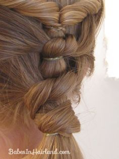 Baptism Hairstyle – Twists & Knots | Babes In Hairland