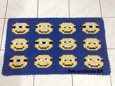 Tapete Croche Minions Carinha