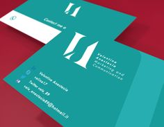 Brand identity and business card design for a Marketing & Communications startup located in Florence, Italy.