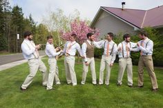 They're still at it, getting some sillies out before the wedding... Photo by nallayerstudios.com
