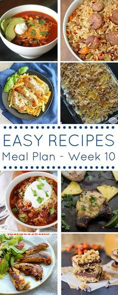The Easy Dinner Recipes Meal Plan, easy, yummy recipe inspiration for your everyday meals!