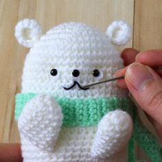 Get the free pattern and tutorial of a white Bubblegum Polar Bear Amigurumi. Pictures and instructions included along with the written crochet pattern.– Page 2 of 2