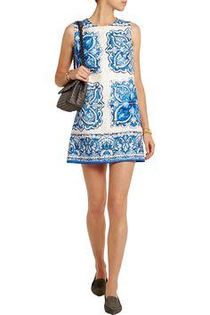 Dolce & GabbanaPrinted cotton and silk-blend brocade mini dressoutfit