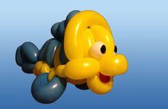 Mermaid's Friend Fish Balloon Animal Tutorial (Balloon Twisting and Mode...