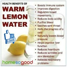Health benefits of Warm Lemon Water