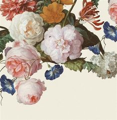 Masterpiece, by Eijffinger. This beautiful floral wallpaper mural takes you into the intriguing world of old masters and exquisite details. Available through Guthrie Bowron stores in New Zealand. Custom Wallpaper, Flower Wallpaper, Wall Wallpaper, Designer Wallpaper, Wallpaper Designs, Vintage Flowers, Floral Flowers, Mural Floral, Art Et Design