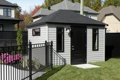 Exalt Pool House Shed, Tiny House, Rive Nord, Patio Plans, Construction, She Sheds, Deck, Backyard, Outdoor Structures