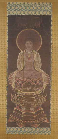 """""""Jesus Christ as a Manichaean Prophet,"""" 14th c. The figure can be identified as a representation of Jesus Christ by the small gold cross that sits on the red lotus pedestal in his left hand."""