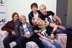 R5 visits Music Choice in NYC.