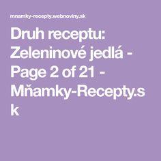 Druh receptu: Zeleninové jedlá - Page 2 of 21 - Mňamky-Recepty.sk