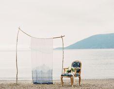 Coastal indigo wedding inspiration