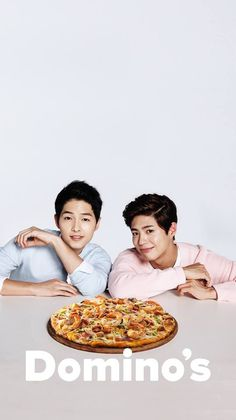 Park Bo Gum & Song Joong Ki for Domino's Pizza Korean Celebrities, Korean Actors, Celebs, Descendants, Kim Yoo Jung Park Bo Gum, Song Joon Ki, A Werewolf Boy, Sungkyunkwan Scandal, Moonlight Drawn By Clouds