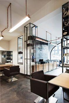 Salon de coiffure à Amsterdam Envie d'y aller simplement !!!! #hairmaps#design#scandinave