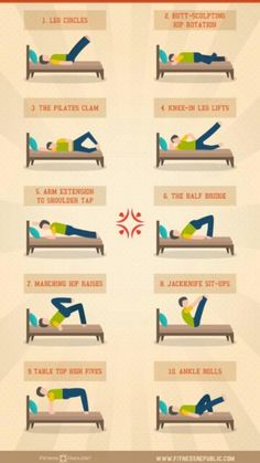 These exercises might be useful for POTS and the days I can't get out of bed.