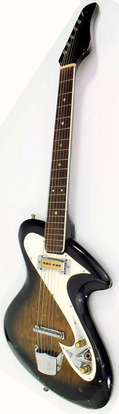 1965 (Hayashi) Zen-On Solidbody Guitar --- https://www.pinterest.com/lardyfatboy/