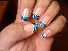 @Whitney Clark Clark Clark Ward @Zach Evers Evers Evers-Jessi Tarbet   Blue and White French Tip Nail Designs