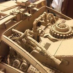 ダンボールデロリアン、エンジンの完成が見えてきました!   Derolian of cardboard. The engine is not completed.   #バックトゥザフューチャー #backtothefuture #cardboard #dmc #デロリアン #ダンボール #delorean