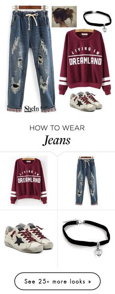 """""""Jeans"""" by ajonas95 on Polyvore featuring Golden Goose"""