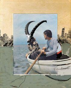 Franz Falckenhaus, Mixed-Media Collages. Interessado em fotografias, colagens e cinema, o artista polaco Franz Falckenhaus é detalhista em cada uma de suas obras. Misturando ilustrações, recortes e fotografias, ele cria pequenas histórias, remetendo sempre ao vintage.
