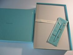 Authentic Tiffany & Co. Vintage Tiffany Blue Purse Pen and Paper/Vintage Tiffany