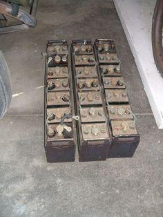 Edison's famous nickel iron storage batteries.