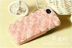 DIY Rose Pearl Shockproof Hard Cover Case For Mobile Iphone 4/4S/5/5S/5C 2 Color