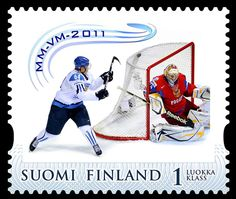 Minnesota Wild prospect and Finnish national player Mikael Granlund's lacrosse style goal has been immortalized on a first class postage stamp in Finland. Ice Hockey Teams, Hockey Players, Hockey World, Minnesota Wild, Sport Inspiration, Pittsburgh Penguins, Stamp Collecting, World Championship, Lacrosse