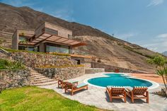 House in Azpitia by Rafael FreyreArchiExpo Exhibition Building, Indoor Swimming Pools, Green Valley, Top 5, Brick, Exterior, Architecture, House Styles, Outdoor Decor