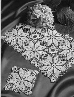 Home Decor Crochet Patterns Part 48 - Beautiful Crochet Patterns and Knitting Patterns Filet Crochet, Crochet Motifs, Crochet Squares, Crochet Doilies, Crochet Flowers, Crochet Lace, Vintage Crochet Patterns, Doily Patterns, Knitting Patterns