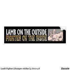 Lamb Fighter 3 bumper sticker