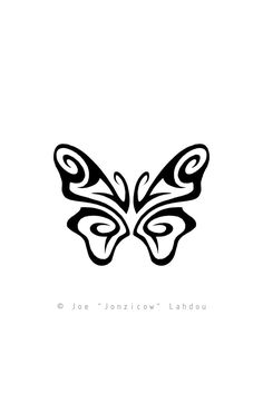 ... Tattoo Design by Joe Lahdou ... Tribal Butterfly ... Note: whoever wants to use this as a tattoo is more than welcome to do so, but I would appreciate it if you could send me a picture of the done tattoo to joe_sketch@hotmail.com