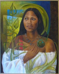 'Yuiza', painting by Samuel Lind