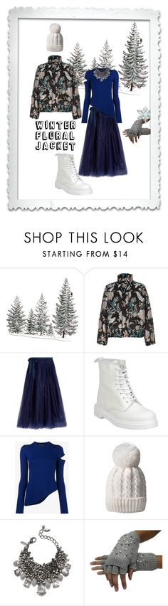 """""""Winter Floral Jacket"""" by lizzylima ❤ liked on Polyvore featuring River Island, J.Crew, Dr. Martens, Proenza Schouler and Badgley Mischka"""