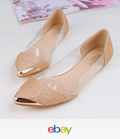 Flats Women Fashion Pointed Ballerina Slippers Casual Slip On Shoes Faux Leather Ebay