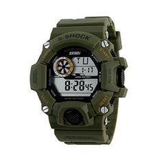 Luxury Military Stopwatch Sports Date Digital Light Silicone Mens Wrist Watch Green * Learn more by visiting the image link.Note:It is affiliate link to Amazon.