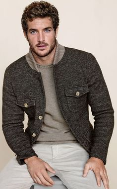 A simple and easy casual look.  This is really elevated by the balanced mix of neutrals and the interesting texture in the jacket.