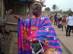 Lmao! Hilarious Photo Of A Barca Fan Going To Work This Morning (Photo)   After thrashing their opponent yesterday in what is believed to be a rare comeback in the history of football Barcelona left with a 6:1 win over PSG that was leading with 4 goals.  This morning as seen on the Net a happy Barcelona fan stepped out in what i cannot yet decode. Lol!!  PIC OF THE DAY