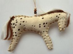 Appaloosa Native American Indian horse doll