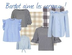 """Bardot aime les carreaux !"" by estellenath on Polyvore featuring mode, Sonia Rykiel, Vichy, River Island, Miss Selfridge, MANGO et TIBI"