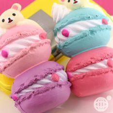 San-X Rilakkuma Macaroon Squishy Mascot  Cell Phone Charm