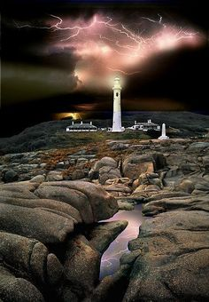 Point Hicks Lighthouse Lightning - Victoria, Australia