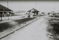 The railroad station at Pasadena,  Texas