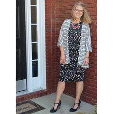 LuLaRoe Lindsay kimono and Julia dress #lularoekathrynschmidt
