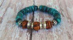 Rustic Ethnic Natural Turquoise Bodhi Seed Beads by Cheshujewelry, $24.00