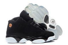 Men Size Air Jordan Basketball Sneakers Black White - Retro 13 Jordans