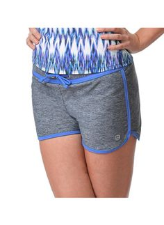 Our Heather Surf Drawstring Sport Swim Short with a contrast waist band and drawstring adds style and functionality Swim Shorts, Tankini, Surfing, Gym Shorts Womens, Hair Beauty, Swimming, Sporty, Hair Styles, Women's Swimwear