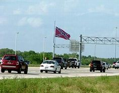 World's Largest Confederate Flag in Brandon, FL - This gigantic Confederate flag waves high over the interstate for all the surrounding communities to see, proudly honoring fallen comrades. Find out more at www.FloridaFringeTourism.com