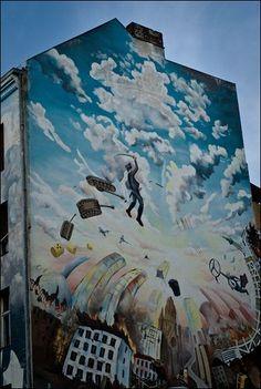 Graffity art on houses
