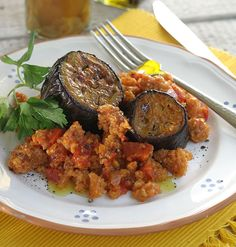 Eggplants with xynohondro sour chunk trahana trahana one pot eggplant braised with trahana greek food greek cooking greek recipes forumfinder Image collections