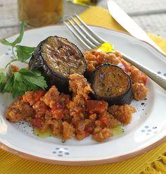 Eggplants Braised with Trahana